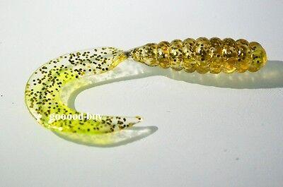 50PCS Soft Lure Fishing Bait Capuchin maggots Grub worm Silicone 4/5/6/8 cm