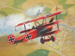 REVELL-1-72-FOKKER-DR-I-TRIPLANE-MODEL-AIRCRAFT-KIT-WW2-WWII-PLANE-SET-04116