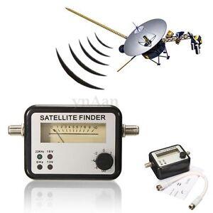 Satellite signal finder meter strength directv dish tv f81 connector