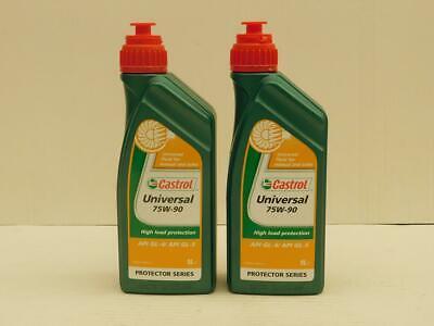 13,45 €/l Castrol Universal 75w-90 2 X 1 L Gl-4/gl-5 Olio F. Ingranaggi/assi-