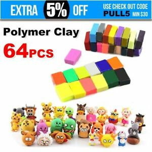 64PCS-Craft-Polymer-Clay-Modelling-Moulding-DIY-Toy-Sculpey-Fimo-Block-Oven-Bake