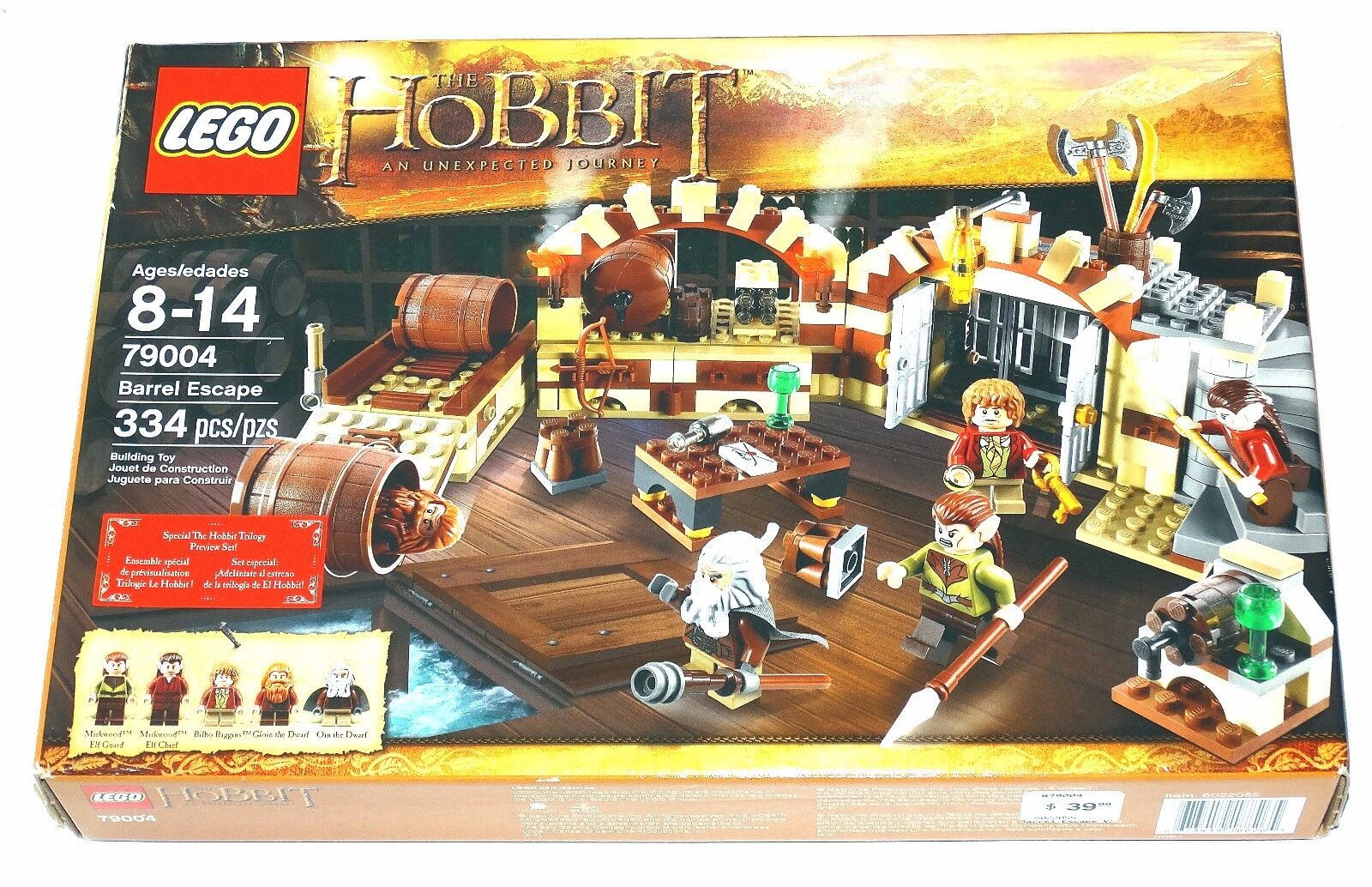 Lego 79004 The Hobbit Barrel Escape 2012 Factory Sealed Mint in Sealed Box