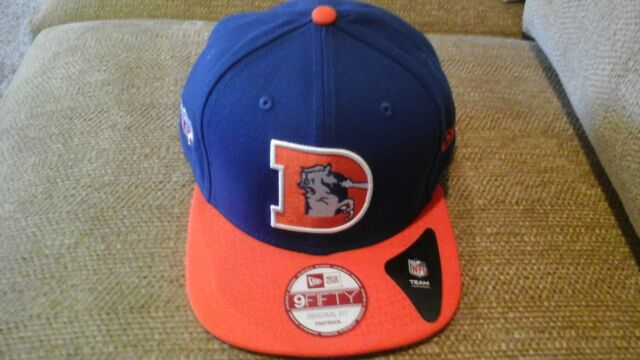 fcfc72e5 Denver Broncos Era 9fifty NFL HISTORIC Throwback Snapback Hat Cap Flat 950