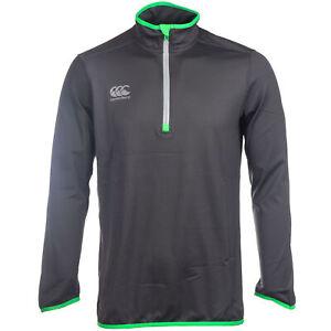 S Canterbury Mens Thermoreg 1//4 Zip Running Fitness Training Top Grey