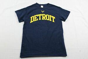 Gildan-Detroit-Lions-Navy-Cotton-Short-Sleeve-Shirt-S-Used