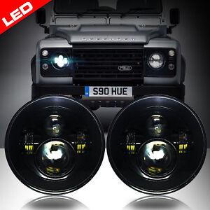 led black projector headlights low high beam for land rover defender rh ebay com
