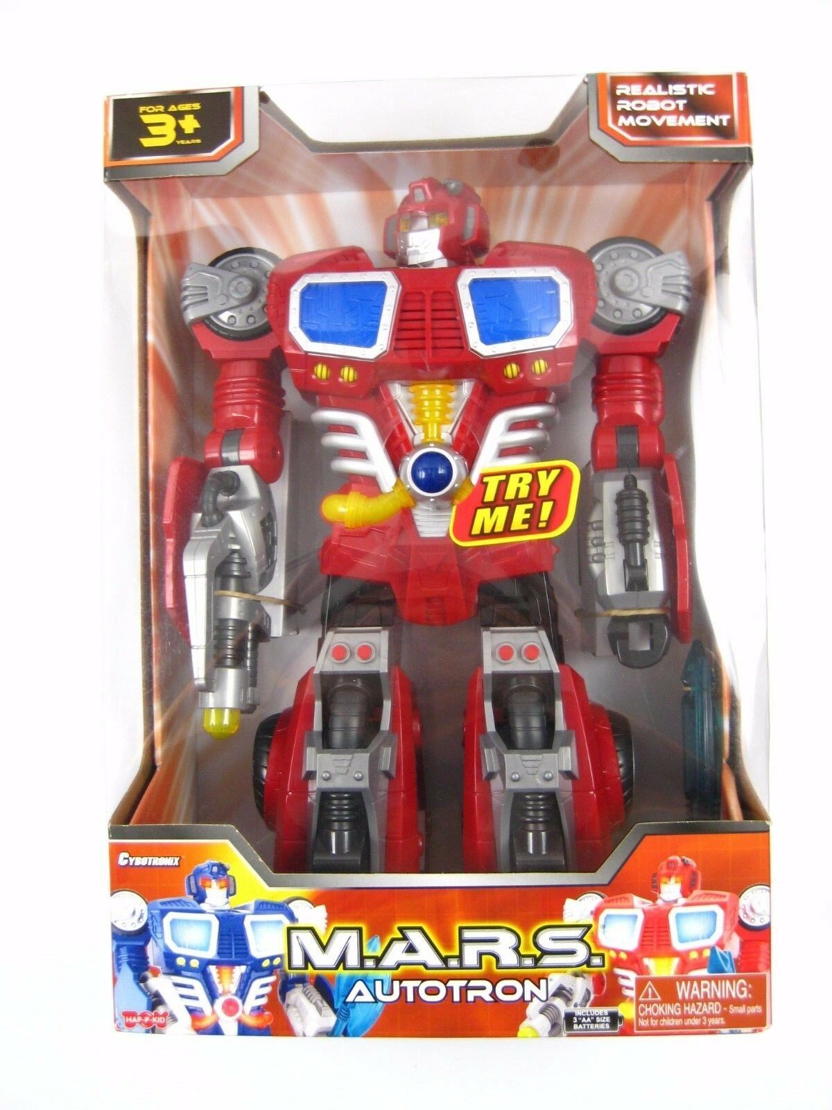 M.A.R.S. Cartron Walking Talking Robot rot Blau 14  Tall NEW IN BOX