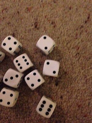 Affidabile Lotto Di 10 Bianco Die. Adatto Per I Giochi Da Tavolo O Artigianato.-mostra Il Titolo Originale