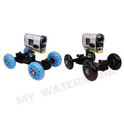 Slider Dolly Car+1/4'' Ball Head for Sony Action Cam HDR-AS15/AS20/AS30V/AS100V