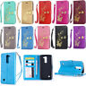 Flip Leather Wallet Photo Card Holder w/Strap Stand Cell Case Cover For LG Phone