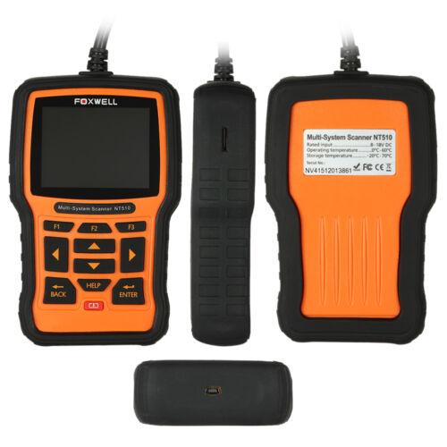 FOXWELL NT510 OBD2 Fault Code Reader Reset Diagnostic ECU Scan Tool Fits JAGAUR