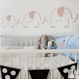 Image Is Loading Elephant Stencil Kids Nursery Wall Decor Reusable Painting