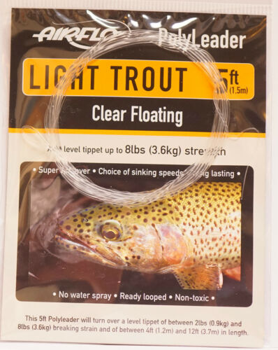 AIRFLO Polyleader LIGHT TROUT 5ft 1,50 Mtr. CLEAR FLOATING