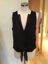 Oui Waistcoat Size 14 BNWT Black RRP £89 Now £26
