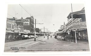 c1930s-1940s-VALANTINE-039-S-REAL-PHOTO-POSTCARD-MITCHELL-STREET-BENDIGO