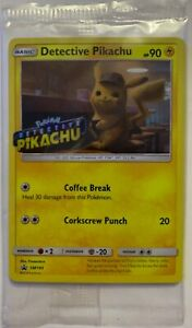 NEW-POKEMON-DETECTIVE-PIKACHU-PROMO-CARD-FOIL-MINT-IN-PLASTIC-SM190-FREESHIPPING