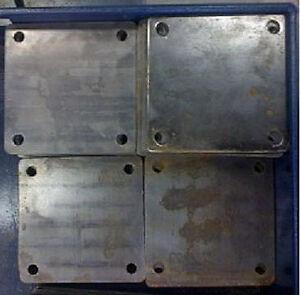 QTY-2-STEEL-BASE-PLATES-6-034-X6-034-X1-4-034-1-2-034-HOLES-11-3005