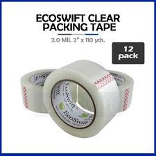 12 Rolls Carton Box Sealing Packaging Packing Tape 20mil 2 X 110 Yard 330 Ft