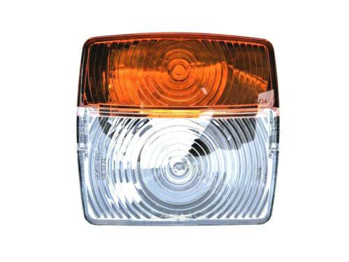 2x Positionsleuchte mit Blinker Universal 12V 24V 107x99x54 mm mit Glühbirnen