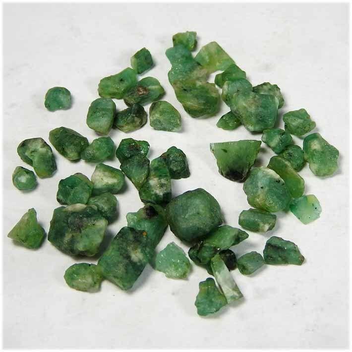 100% Természetes csodálatos Zöld Kis Emerald Gemstone Durva Lot Ebay bulk