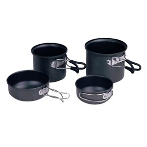 NEW-CAMPING-COOKWARE-4-PIECE-SOLO-COOK-SET-LIGHTWEIGHT