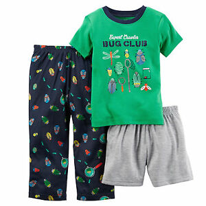 3ca5c8469 NEW Carter s Baby Boy 3 Piece Pajama Set PJ Cotton - BUG CLUB - Size ...