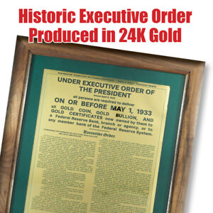 Historic-1933-Executive-Gold-Recall-Order-Produced-in-24K-Gold