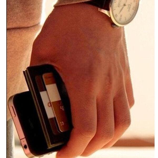 Accurato Portafoglio Magico Magic Regalo Wallet Carte Di Credito Slim Clip Cash Holder Bg