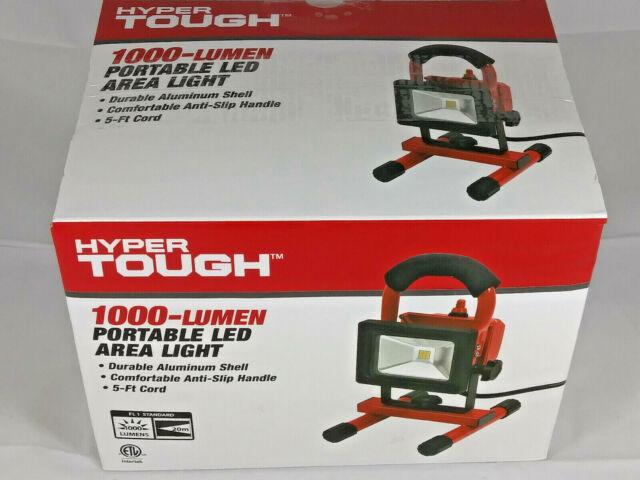 Hyper Tough 1000 Lumen Portable Led Area Light 5 Foot Cord