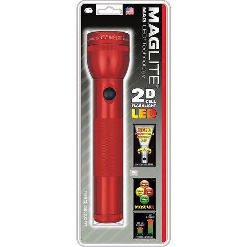 Maglite st2d036 Linterna,red oscuro,2 Celular D baterías,bombilla LED,Empaque