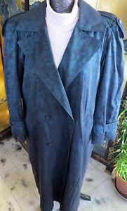 Out Coat Long Fog Trench Noir Iridescent 14 Vert Femme Taille Liner London Zip qB0twq