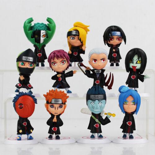 1hot//set Versione Q Anime Naruto Akatsuki Action Figure Toys Statua Modello Bambola