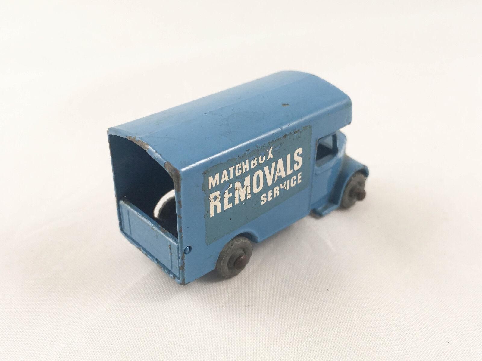 MATCHBOX LESNEY Nº 17 A Bedford Removals van truck Original Original Original diecast metal wheels | Belle Et Charmante  | Distinctif  | Belle Qualité  0eb783