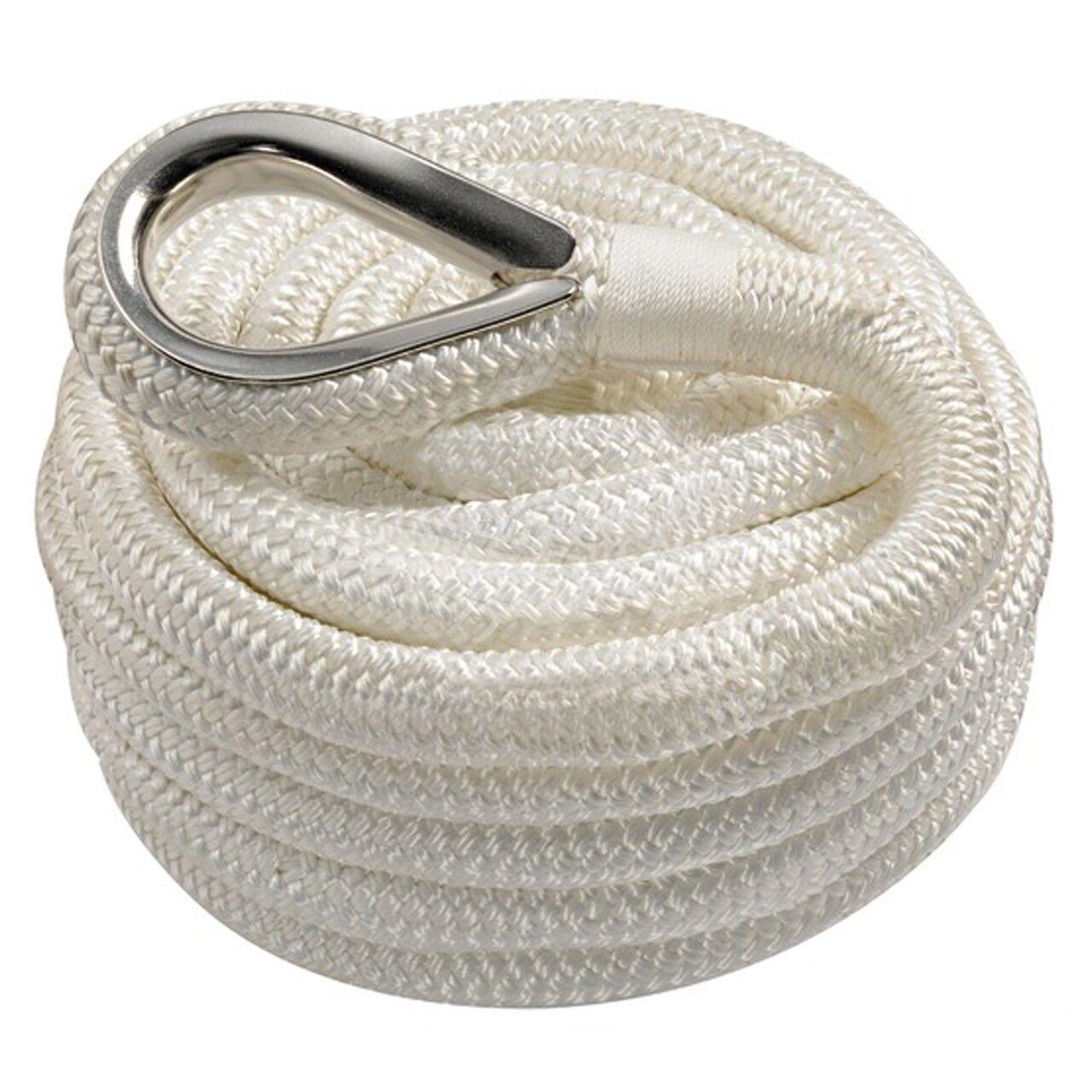 Osculati mit Polyester Festmacherleine weiß mit Osculati Kausche Auge versch. Größen Seil Tau ddf5c5