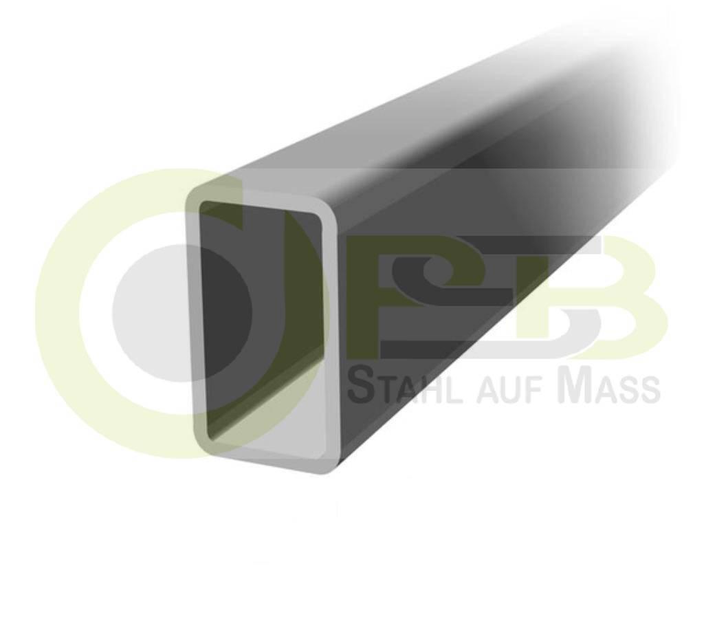 rechteckrohr 30x15x2mm 120x60x4mm stahlrohrvierkantrohr hohlprofil ebay. Black Bedroom Furniture Sets. Home Design Ideas