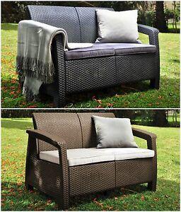 Resin Rattan Patio Love Seat Outdoor