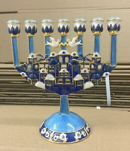 Details About Menorah Jerum Enamel Pewter 6 5 Inch Height 17cm 7 Branches Candle Holder
