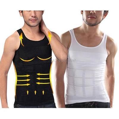 Men Slim Body Shaper Tummy Belly Fatty Underwear Vest T Shirt Corset Shapewear H