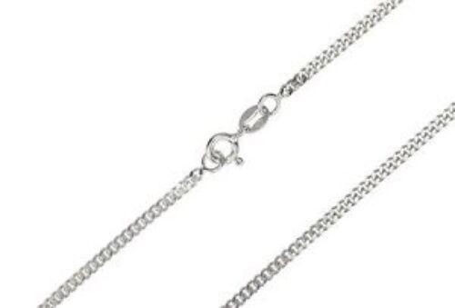"""Sólido de plata esterlina 925 Diamante Corte Cadenilla longitud 18/"""" peso 1.1 Gr"""