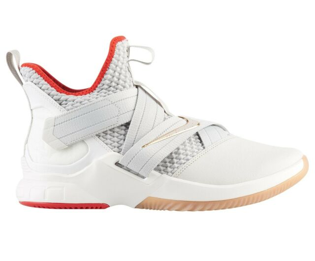sports shoes de882 9aed7 Nike Lebron Soldier 12 XII Light Bone Red White Ao2609 002 US Mens Sz 13
