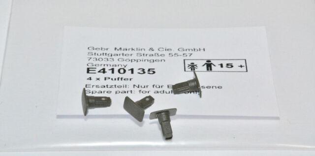 Märklin H0 410135 4 Stück Puffer Pufferset grau NEU in OVP E410135 Steckpuffer