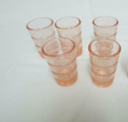 Set of Two American Girl Doll Kit Pink Tumbler From Glassware /& Linens Birthday