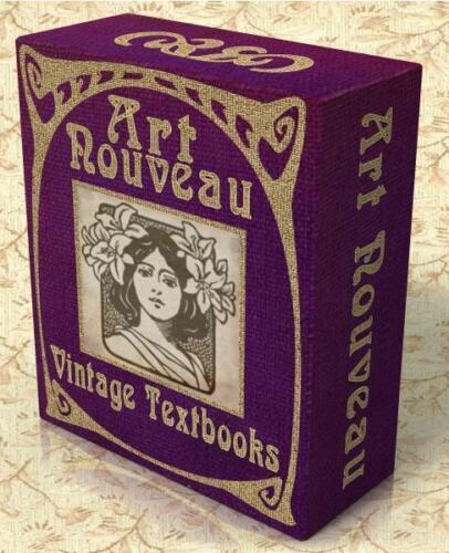 ART NOUVEAU 22 Vintage Design Textbooks on CD-Rom 422 Clipart Images