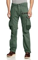 Jet Lag Men's Military Inspired Cargo Pants Green 32 With Tags