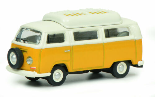 Schuco 1:87 452644400 VW T2a Camping Bus gelb weiß NEU OVP