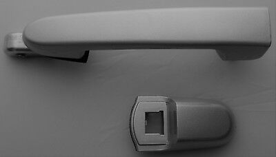 Rear Right Outside Door Handle For 06-11 Hyundai Accent 5S Platinum Silver Mica