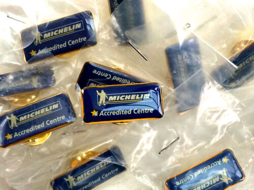 Lot of 5 Michelin /'Accredited Centre/' Pin Badge Genuine New Old Stock