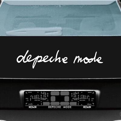 Depeche Mode 60cm weiß Schriftzug Aufkleber Tattoo Auto Heck Scheibe Deko Folie