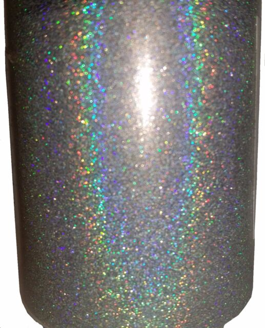Extra Fine Holographic Chrome Nail Art Powder: Silver Holographic .004 True Ultra Fine Nail Glitter Art