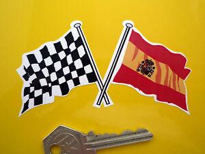 Traversé pavillon espagnol /& damiers autocollant ESPAGNE ESPANA